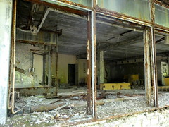 Shop in Pripyat (chibeba) Tags: chernobyl chornobyl exclusionzone exclusion zone ukraine radiation radiationzone holiday vacation tour daytour tourism travel may 2018 spring abandoned pripyat prypiat pripyatghosttown ghosttown abandonedtown 1980s ruins