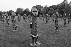 4376 (Yorkshire Pics) Tags: yorkshire yorkshiresculpturepark ysp 1105 11052018 11thmay 11thmay2018 sculpture zakove blackandbluetheinvisibleman blackandbluetheinvisiblemanandthemasqueofblackness blackwhite blackandwhite sculpturearmy armyofsculptures