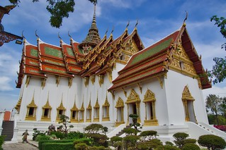 Replica of Dusit Maha Prasat Palace in Muang Boran (Ancient City) in Samut Phrakan near Bangkok, Thailand