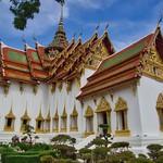 Replica of Dusit Maha Prasat Palace in Muang Boran (Ancient City) in Samut Phrakan near Bangkok, Thailand thumbnail