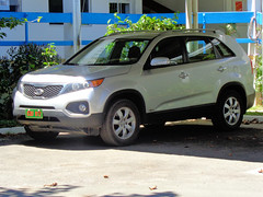 Kia Sportage in Port Vila, Vanuatu (CooverInAus) Tags: port shefa vanuatu number license registration motor vehicle automobile plate vila kia sportage french embassy diplomatic corps