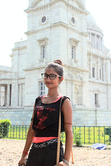 Susmita and Victoria memorial on the background. Kolkata, Bengal, India (n1ck fr0st) Tags: indian girl victoria memorial kolkata bengal india