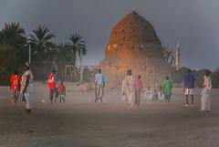 Football in Kerma, northern Sudan (msadurski) Tags: kerma sudan cyclingegyptsudan200910 sufi tomb football match africa