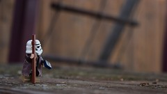 Down under (RagingPhotography) Tags: lego star wars stormtrooper storm trooper imperial galactic empire soldier explorer explore outside outdoor outdoors playground play ground exploration cool dark color colored colors brown plastic minifigure minifig figure toy toys compass travel traveler traveling ragingphotography