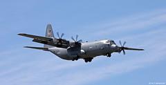 United States Air Force Lockheed Martin C-130J Super Hercules 74636 'The Rock' on short finals for Rota NAS/LERT (Mosh70) Tags: rotanavalairstation rotanavalbase unitedstatesairforce lockheed c130j superhercules usn unitedstatesnavy c26metroliner fairchild 74637 74636 900531
