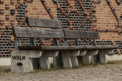 ...don`t rest (michael_hamburg69) Tags: hamburg germany deutschland hafencity bench bank walk holz beton wood concrete tiegel mosaik muster hbm happybenchmonday