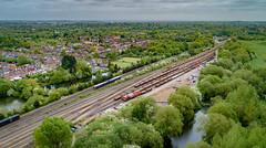 Hinksey Yard (robmcrorie) Tags: hinksey yard oxford oxfordshire train rail railway phantom 4 class 66 70 70814 66034 colas gwr 165 bowls bowling green
