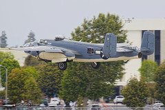 Torrance Armed Forces Day Flyover Aircraft (PhantomPhan1974 Photography) Tags: armedforcesdayparade torranceairport 2018 warbirds bombers trainers wwii westernmuseumofflight zamperinifield ktoa pbj northamericanaviaiton boeing
