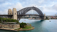 Sydney Harbour Bridge (Jonathan⦿) Tags: harbourbridge sydney harbor bridge harbour australia australian northshore coathanger arch water nsw city therocks cityscape newsouthwales landscape sky white blue clouds summer travel tourist aerial view above lunapark tourism attraction kiribilli trees circularquay bay landmark iconic clear day colorful beautiful famous sunny weather