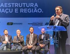 Anúncio da viabilização de recursos para obras estratégicas para Foz do Iguaçu: melhoria e expansão do Aeroporto Internacional, duplicação da BR-469 (Rodovia das Cataratas) e o edital de licitação da Perimetral Leste.
