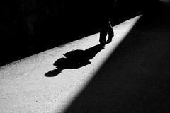 Dancing in the light (cactus2016) Tags: rue noiretblanc ombres shadows streetphotography blackandwhite saintmalo humaningeometry absoluteblackandwhite
