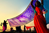 India, Maha Kumbh Mela (silvia.alessi) Tags: ngc uttarpradesh contrast event river indu veils ganges kumbhmela colors silhouette controluce sunset luce light women asia india sari