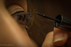 make up (harakis picture) Tags: readyfortheday macromondays makeup eyes macro sony a7 portrait girl morning maquillage yeux
