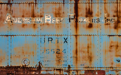 Ungulative Industry (Junkstock) Tags: aged advertisement advertising color corrosion corroded decayed decay distressed graphics graphic industrial industry illinois irmorg paint patina railroad rust rusty rusted rivets typography type text transportation transport trains train weathered