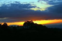 Hollywood Hills Sunset (Michael DaKidd) Tags: sunset sun nature skyline night landscape evening dusk hills hollywood hilltop nightfall