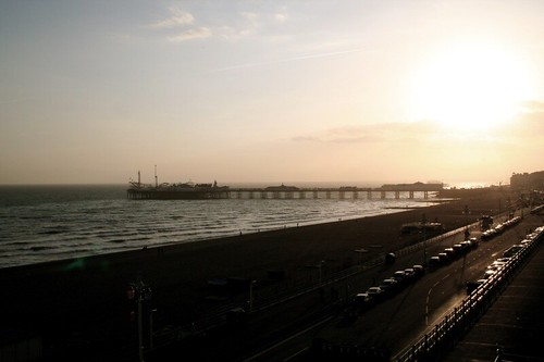 Brighton pier at sunset
