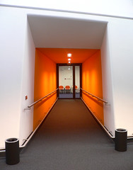 Orange Hallway (svenwerk) Tags: berlin architecture germany campus university library bibliothek biblioteca architektur fu universitt architectura freieuniversitt freeuniversity twtmeblogged