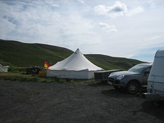 Iceland 611 (dezbaa) Tags: iceland myvatn germanflag hlcampsite