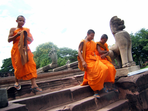 Monks @ Phimai, Thailand