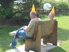 its a goal! (fitzhughfella) Tags: football goal baldmen cones