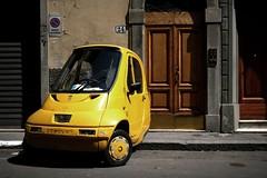 yellow for personal (* tathei *) Tags: city travel italy car canon eos florence europe italia tuscany 5d firenze dslr toscana 28135mmis