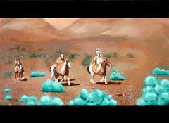 Blazing Saddles painting