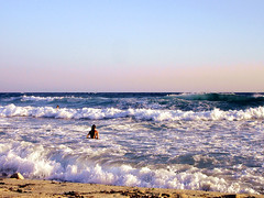 Ikaria 296 (isl_gr (Mnesterophonia)) Tags: morning beach girl sport mediterranean surf waves ikaria icaria  aegean july greece campers ege   icariansea  meltemi messakti
