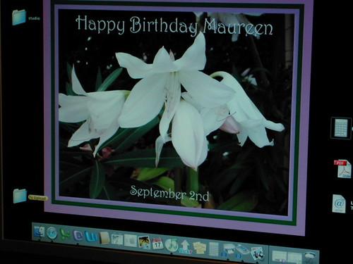 Birthday greetings from CanarybirdSB