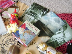 photos and gnome. (brina_head) Tags: red toys gnome gift swap amelie