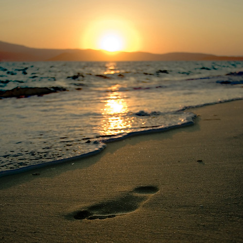 "Are you familiar with the poem, ""Footprints in the Sand""?"