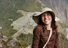 Sammy poses in front of Machu Picchu