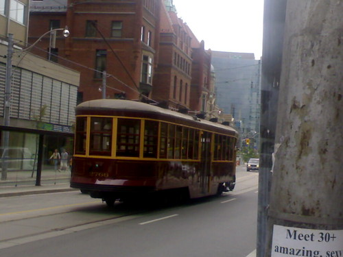 Old Streetcar Near College St.