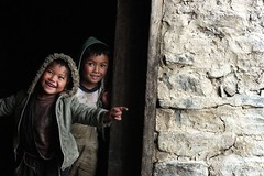 This way... (jay_kilifi) Tags: nepal boys laughing children village laughter sherpa ih lightdark rolwaling travelerphotos