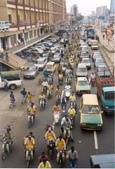 Traffic, Cotonou (Benin) (It's Stefan) Tags: africa people car truck dof traffic taxi streetlife explore motorbike benin birdseyeview crowded cotonou vogelperspektive luftaufnahme explored vistadepajaro vistadallalto visopanormica enplonge avistadocell    kubakgrn