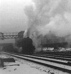 Newton Heath, Manchester, 1968. (Fray Bentos) Tags: england manchester steam railways angst steamlocomotive newtonheath stanier8f