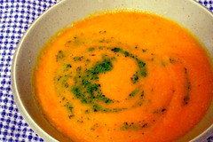 Summer Squash Soup with Parsley-Mint Pistou