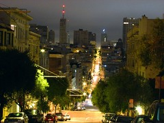 california to fillmore (pbo31) Tags: sanfrancisco california above city light sky urban black color building nature up northerncalifornia yellow architecture night speed dark out lights photo moving movement stream noir citylife favorites 2006 structure latenight sanfranciscobaya