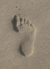 Footprint (wanderinstasis) Tags: california beach sansimeon centralcoast opticalillusion footprint