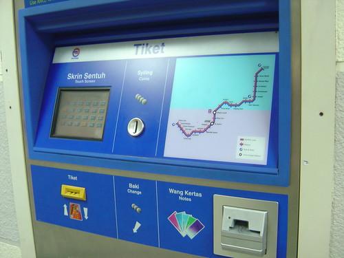 Mesin Beli Tiket LRT
