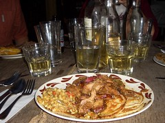 Queen's Hideaway: Pork, Chili, Pancakes