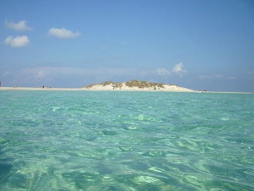 Vista desde el Mar de la Isla de Espalmador en Formentera