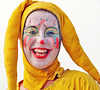 Pretty and witty and gay (isolano.) Tags: gay portrait woman color girl yellow bravo colorful pretty clown witty theface abigfave kkfav