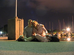 Chris and Steph in Vidy (Stephanie Booth) Tags: port boats bateaux lausanne blogged nightshots vidy stephaniebooth photosdenuit crschmidt
