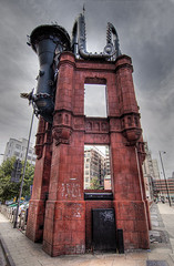Tib Street Horn - Manchester (reaperman) Tags: red canon manchester 350d machine hdr