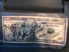 Counterfeit $10 - it looks real!