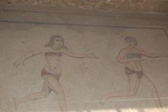 Bikini Women (uromattox) Tags: mosaics sicily casale