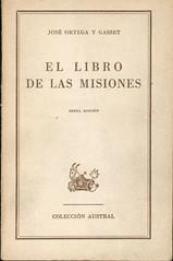 José Ortega y Gasset, El Libro de las Misiones