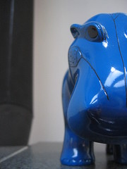 Halfapotamus (BrittneyBush) Tags: blue bank egyptian hippopotamus utatainhalf