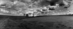 Lincoln Lutheran Church, Lincoln, North Dakota (thstrand) Tags: panorama landscapes religion northdakota nd widelux prairie greatplains mobilehomes lutheranchurch toddstrand lincolnnorthdakota burleighcounty driftprairie