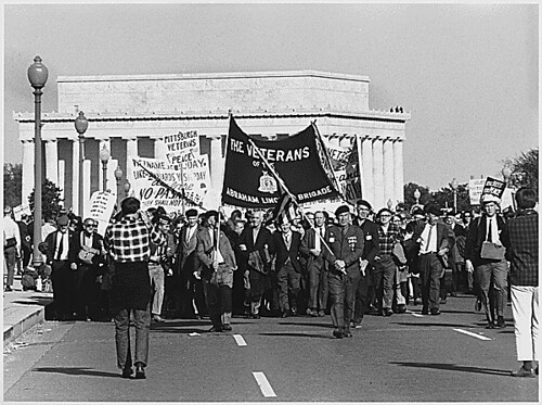 Public Domain: Vietnam War: Protesters on Memorial Bridge,